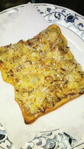 納豆しらすチーズコロッケ風トースト