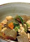 鶏とこんにゃくの味噌煮込み