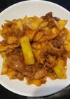 淡竹と豚肉の甘味噌炒め