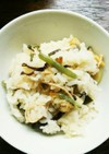 あさりと山菜の炊き込みご飯