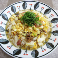 白菜の卵とじ素麺