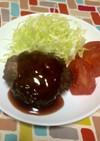 超簡単☆照焼きソースのビーフハンバーグ!