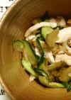 鶏胸肉と搾菜の中華風の和え物