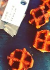 北海道パンケーキ粉のワッフル