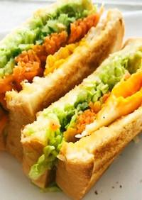 カフェ風☆ボリュームサンドイッチ
