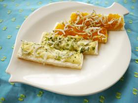 離乳食おやつ☆しらすの2色パンスティック