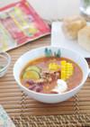 夏野菜のポークビーンズ風ごちそうスープ