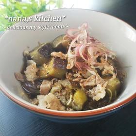 簡単10分煮物♥️なすと豚バラのはや煮