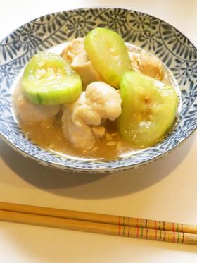 ☺簡単和食♪白瓜と鶏もも肉の味噌炒め☺