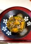 カボチャと挽肉の味噌あんかけ