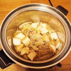 電鍋で簡単!白菜、豚肉、厚揚げのスープ煮