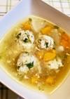 しそつくねの根菜スープ