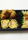 172、鰹カツレツと海苔カマ卵焼き弁当♡