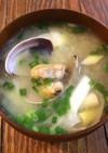 旨味たっぷり♡あさりと長葱のお味噌汁