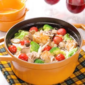 ワインに合う!野菜たっぷり天塩オイル鍋