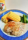 バター酢で鶏胸肉ソテー