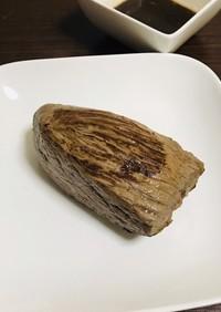ランプ肉のステーキとガーリックソース