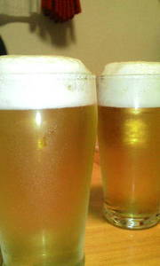 缶ビールのおいしい注ぎ方★の写真