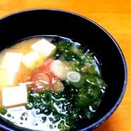 あおさと豆腐の味噌汁 *☻*