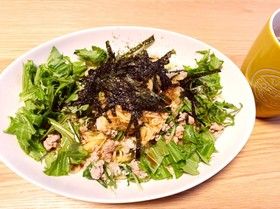 水菜と大根おろしの簡単パスタ