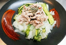 【レンジ】大根ときゅうりの豚しゃぶサラダ