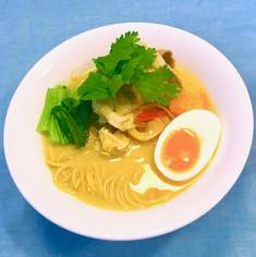 糖質制限!シンガポールラクサ風ラーメン