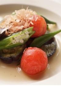 夏野菜のお浸し
