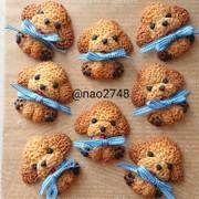クッキー生地だけでトイプードルクッキーの写真