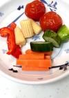 夏弁当の彩りと隙間に残り野菜ピクルスを!