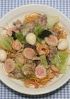 簡単おいしい☆乾燥海鮮たっぷりの皿うどん