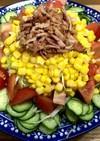 簡単キレイ☆キャベツとベーコンのサラダ