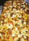 納豆&コーンしらすの梅おかかトースト