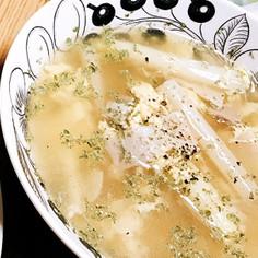 ホワイトアスパラの茹で汁スープ