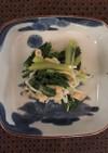 小松菜とえのき、油揚げのレンチンお浸し
