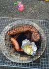 牛バラブロックの炭火焼き