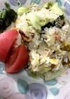 レタスと野沢菜のマヨネーズチャーハン