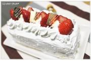 スクエアのショートケーキの写真