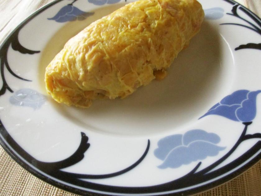 ポリ袋で作るスパニッシュオムレツ