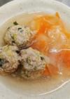 ひらひら野菜と餃子団子の食べるスープ*゜