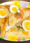 サーモン・えび・卵のパイ⭐︎