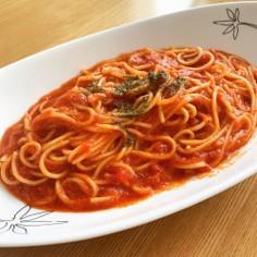 シンプル トマトパスタ
