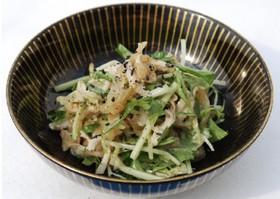 中華くらげと鶏と水菜のサラダ