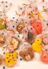 型なし☆可愛いカラフル動物クッキー☆