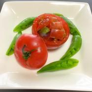 アボガド・トマト・スナップエンドウサラダ