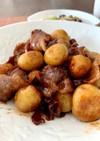 豚バラとジャガイモの甘辛煮