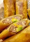 コーンとアボカドのチーズ肉春巻き
