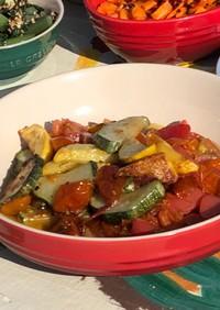 ズッキーニとミニトマトのソテー