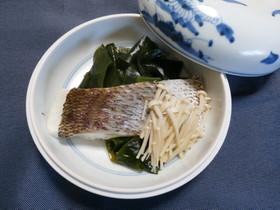 鯛とえのきの酢味噌かけ