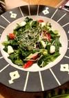 モッツァレラとトマトと緑のさっぱりサラダ