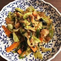 ニラ豚風野菜炒め